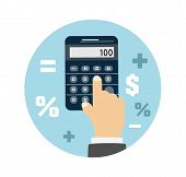 stock photo of mathematics  - Calculator icon - JPG