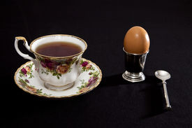 foto of chucky  - Breakfast tea with soft boiled egg china - JPG