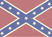 stock photo of flag confederate  - detailed illustration of a patriotic confederate flag on a grungy background - JPG