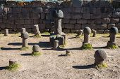stock photo of phallus  - Fertility temple in the peruvian Andes at Puno Peru - JPG