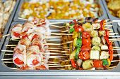 picture of catering  - catering food background with snacks in restaurant at event party - JPG