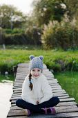 image of cold-weather  - Young girl in cold weather - JPG
