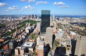 picture of prudential center  - Boston John Hancock Tower and Back Bay Skyline - JPG