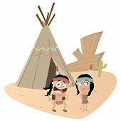stock photo of tipi  - funny indian couple - JPG