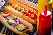 image of wiener dog  - All beef dogs variantion of hot dogs onions beef garlic chips paprika chilli mustard ketchup - JPG