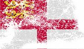 image of sark  - Flag of Sark with old texture - JPG