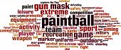 foto of paintball  - Paintball word cloud concept - JPG