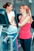 foto of elliptical  - Mother and daughter training - JPG