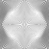 stock photo of distort  - Design monochrome whirl circular motion background - JPG