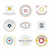 stock photo of mass media  - Vector collection of photography logo templates - JPG
