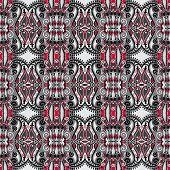 foto of decoupage  - authentic seamless floral geometric pattern - JPG