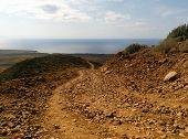 stock photo of arid  - Beautiful arid landscape of Tenerife - JPG