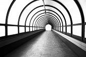 stock photo of pedestrians  - A view pedestrian tunnel  which was built pedestrians - JPG