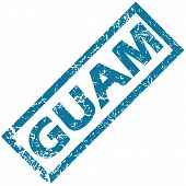 stock photo of guam  - Guam grunge rubber stamp on a white background - JPG