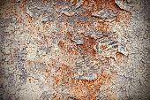 image of scrap-iron  - Grunge iron rust background with peeling paint - JPG