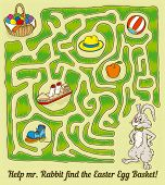 picture of maze  - Easter Rabbit Maze Game - JPG