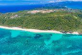 stock photo of deserted island  - aerial view of Boracay island - JPG