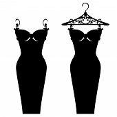 pic of little black dress  - elegant little black dress design  - JPG