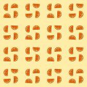 picture of monochromatic  - Fine orange monochromatic mandarin cartoon regular pattern - JPG