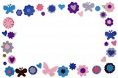stock photo of embellish  - an isolated coloful frame made by stars diferent kind of embellishment - JPG