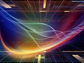 picture of sine wave  - Light Waves series - JPG