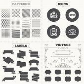 stock photo of quiz  - Seamless patterns - JPG