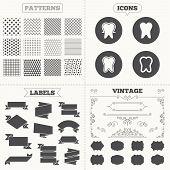 stock photo of toothpaste  - Seamless patterns - JPG