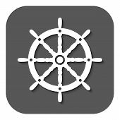 image of steers  - The ship steering wheel icon - JPG