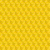 pic of honeycomb  - Seamless pattern of yellow glossy honeycombs - JPG