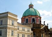 stock photo of church  - St Francis Seraphicus Church dome and dome  - JPG
