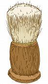 stock photo of pubescent  - Vintage Shaving Brush - JPG