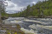picture of nasty  - Rapids on Kutsayoki river on a nasty day - JPG