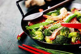 pic of chinese wok  - Chinese cuisine - JPG