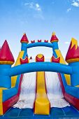 picture of inflatable slide  - Vertical photo of a children - JPG