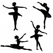 Ballet Dancer Silhouettes