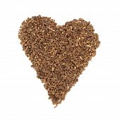 picture of valium  - Valerian herb chopped root in heart shape - JPG