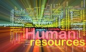 foto of human resource management  - Background concept illustration of human resources management glowing light effect - JPG