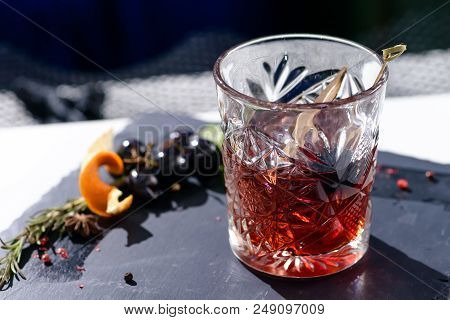 Classic Alcoholic Godfather Cocktail In
