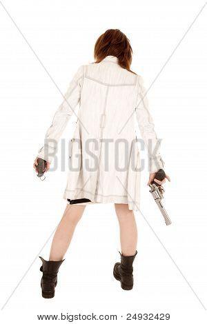 Постер, плакат: Вид сзади оружие, холст на подрамнике