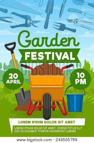 Garden Festival Poster With Farming