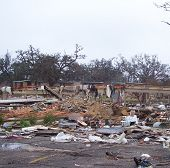image of katrina  - Debris and foundation of Hurricane Katrina damaged apartment complex. ** Note: Slight blurriness, best at smaller sizes - JPG