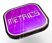 Website Metrics Business Site Analytics 3D Rendering poster