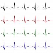 Heart Rate Graphic. Vector Illustration. (electrocardiogram Or Ecg) poster