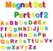 image of verbs  - Vector Magnets Set  - JPG