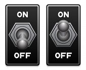 image of toggle switch  - toggle switch vector - JPG