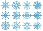 set of brand new snowflakes poster