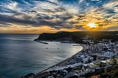 Sunset in Sesimbra, Portugal