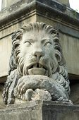picture of obelix  - Lion statue on Obelix with lions in city of Iasi - JPG