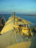 picture of lng  - View of LNG vessel from the wheel House - JPG