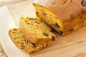 Homemade Chocolate Chip Pumpkin Bread